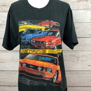 Ford Mustang Car Graphic Oversized T-Shirt Sz L